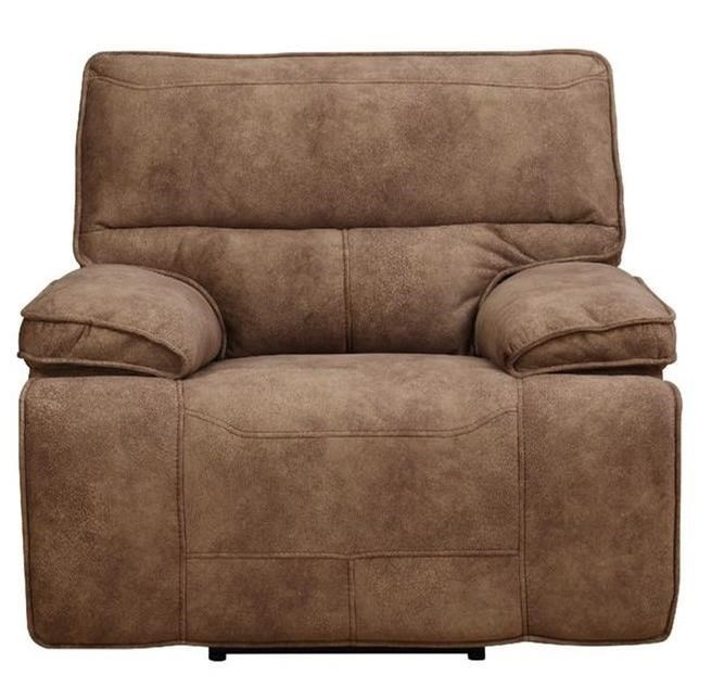 Recliner Pillow Paris Glider Recliner With Pillow Arms By Elements International At Household Furniture